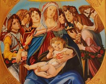 MADONNA of the POMEGRANATE (copy of Sandro Botticelli 1487)