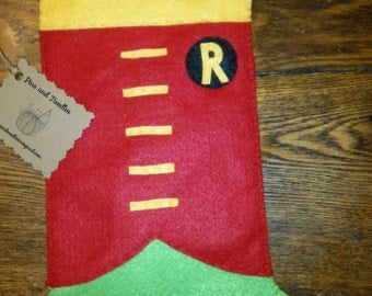 Robin (Batman &Robin) inspired Christmas stocking