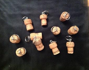 Champagne Cork Keyrings