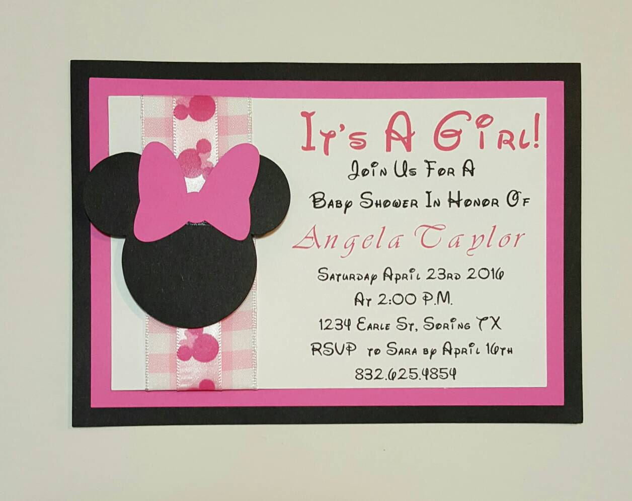 minnie mouse baby shower invitation minnie by ashleykreations