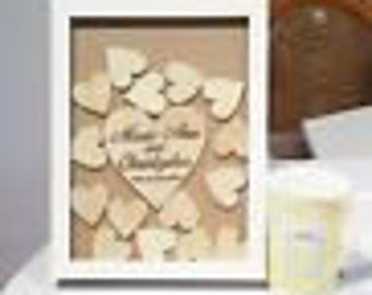 Mini Shabby Chic drop box alternative guestbook wedding engagement
