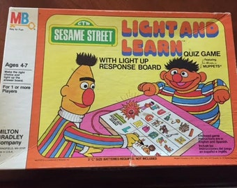 Vintage Sesame Street Light and Learn (1977)