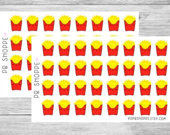 32 Kawaii French Fry Stickers