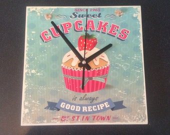 Diner style 'Cupcake' clock