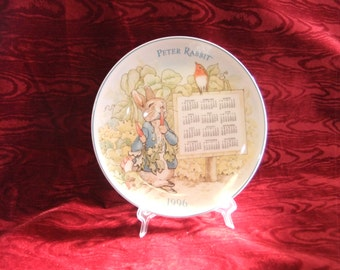 "Lovely Wedgwood ""Peter Rabbit"" 1996 Calendar Plate"