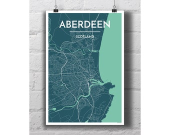 Aberdeen City Map Print
