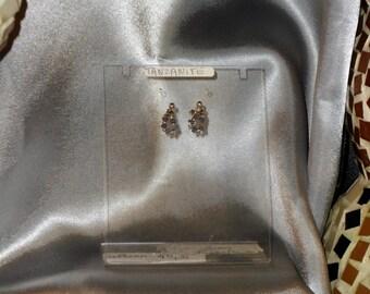 tanzanite gemstone earrings semi precious and Silver 925