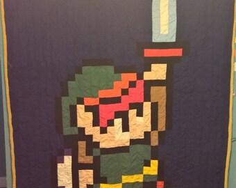 Link. Zelda, Link Quilt, Zelda Quilt, Legend of Zelda