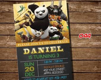 Kung Fu Panda invitation,Kung Fu Panda party,Kung Fu Panda invite, Kung Fu Panda, birthday party, birthday,4th,5th,6th,7th,8th,9th #044