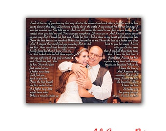 Father of the bride gift, Father daughter, Father daughter dance, Father wedding gift, Gifts for DAD, Dad Birthday gift, Dad gift, Canvas