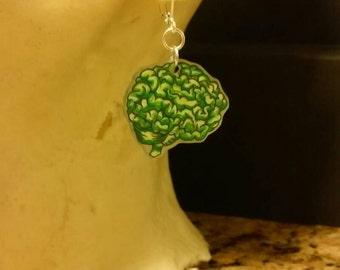Braaains! Zombie earrings