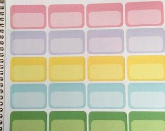 Half colorful squares for Erin condren Planner