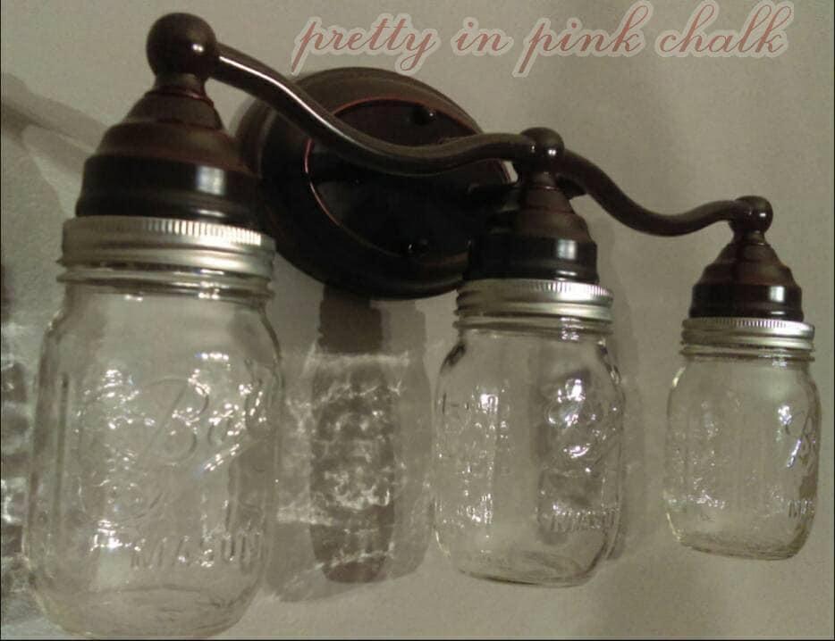 3 light mason jar vanity bar lighting fixture it 39 s - Mason jar bathroom light fixture ...