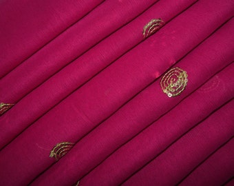 Vintage Dupatta Pink Georgette Scarf Floral Embroidered Wrap Hijab Indian Recycled Fabric Decor Long Veil Stole Scarves SD2338