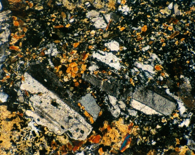 Mineral Photo Custom Feature Tiles - Feldspar - Thin Section Photography - Australian Minerals - MineralPhotos