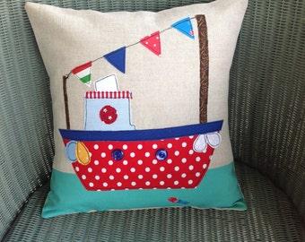 Cute boat cushion