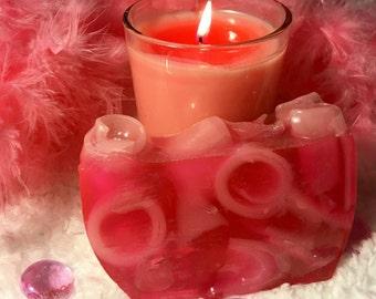 Survivor - Hot Pink & Light Pink Handcrafted Glycerin soap