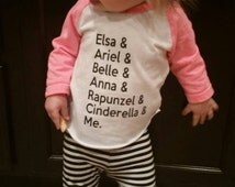 Princess Shirt - Disney Shirt - Disney Princesses - Girls Shirt - Baby Girls Shirt - Disney World - Disneyland - Kids Shirt - Raglan Shirt