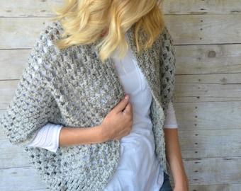 Cocoon Sweater, Crochet Sweater, Oversized Cocoon Sweater, Womens Sweater, One Sized Womens Shrug