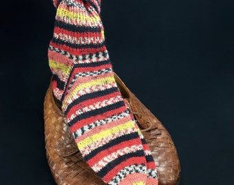 Hand knitted, woollen stockings size 42-43