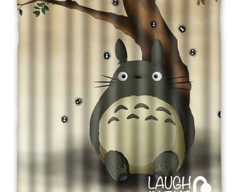 My Neighbor Totoro Shower Curtain - Available in 2 sizes and with rings - Bathroom Decoration - Totoro, Studio Ghibli