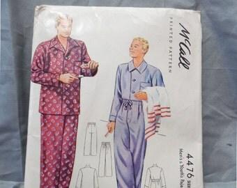 Vintage ( 1941) McCalls 4476 Men's Sz 38-40 Med Pajama Pattern