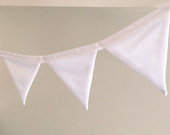 Fabric Bunting - White (Small)