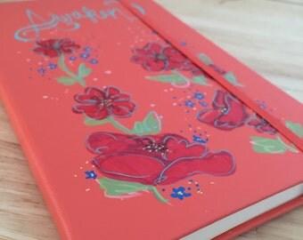 "Hand Painted Journal ""Awaken"""