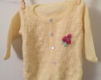 Hand knitted Infant Cardigan/Sweater