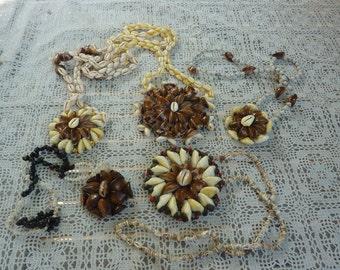 set of 5 shells Polynesian lucky Locket necklaces