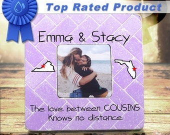 cousins long distance state gifts cousin gift for cousins custom frame gift the love between cousins knows no distance custom frame tpfs