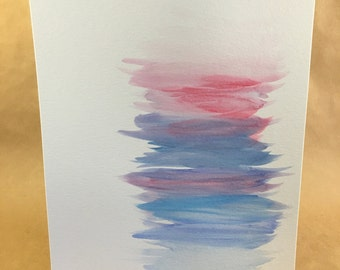 Watercolor - brushstrokes of pink and blue