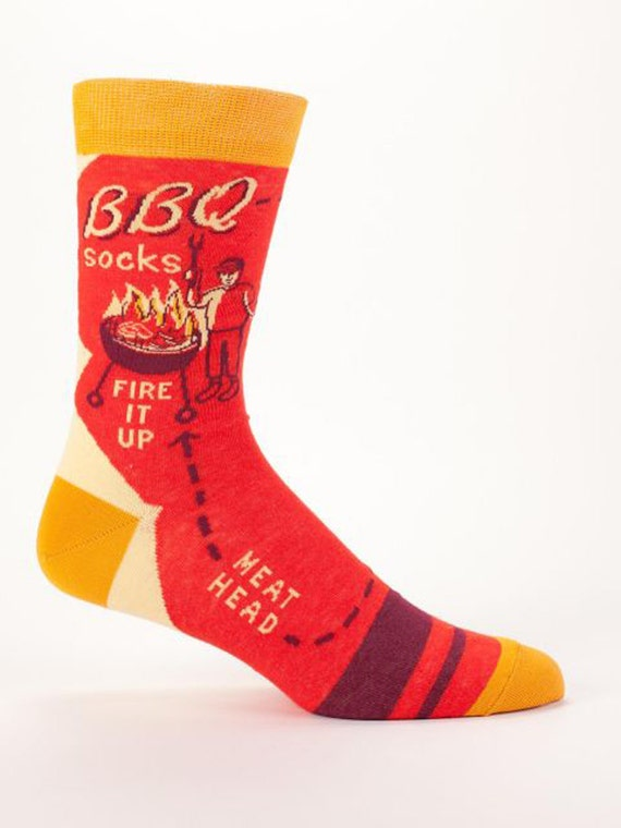 BBQ Socks - Funny, Quirky Men's Crew Socks - Christmas Gift