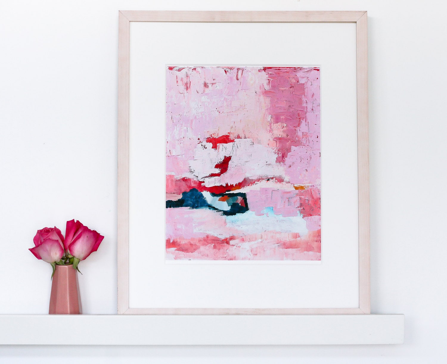 Pink Abstract Art Painting Prints And Original