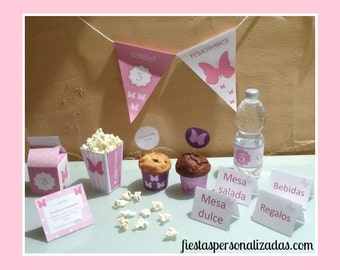 Child model BUTTERFLIES birthday party Kit
