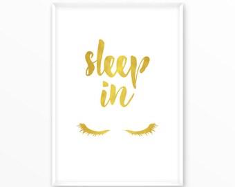 Sleep in Print, dream big Poster, printable, art, digital, Typography, Vintage, Grunge, Inspirational Home Decor, Screenprint, wall art