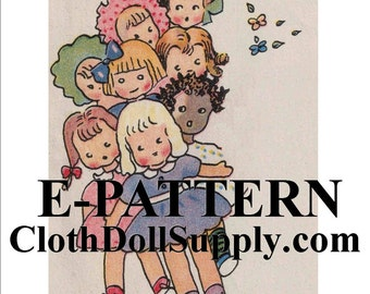 E-Pattern – How To Make A Dozen Dolls Sewing Pattern #EP VP142