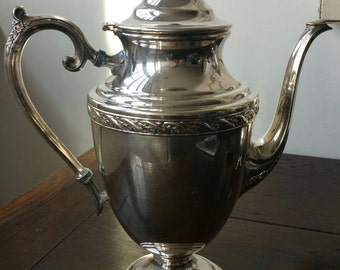 Silver plate coffee pot
