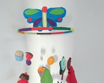 The very hungry caterpillar baby mobile