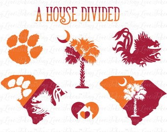 A House Divided Design for Silhouette and other craft cutters (.svg/.dxf/.eps/.pdf)