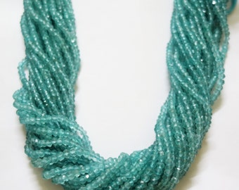 Sky Blue Apatite Faceted Rondelle