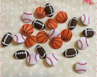 Sport Buttons/Football Buttons/Baseball Buttons/Basketball Buttons/Novelty Buttons/Multiple Choice For Many Craft Projects