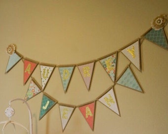 Chipboard Pennant Banner