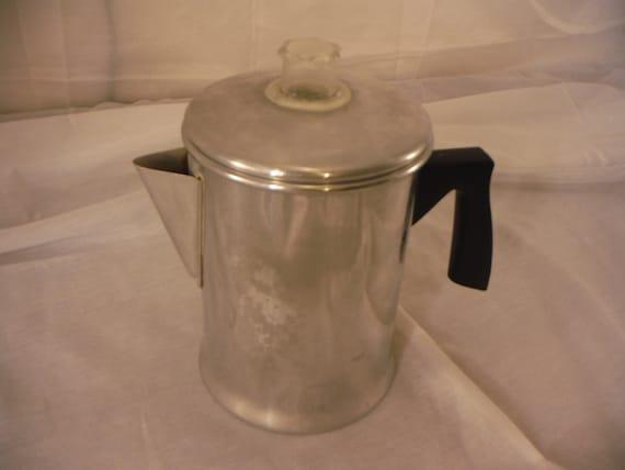 Mirro Percolator Coffee Maker : Vintage Mirro Aluminum 5 Cup Percolator Coffee Pot
