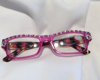 1.25 Swarovski Crystal reading glasses - FREE SHIPPING