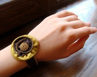 Zipper Bracelet, Zipper Jewelry, Flower Bracelet, Handmade Bracelet, Gift for her