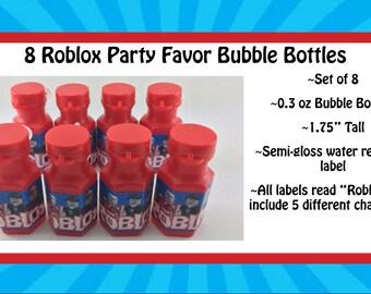 8 Roblox Party Favor Bubble Bottles