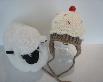 Cupcake Baby Hat