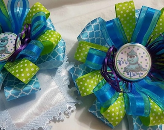 Monster's INC Inspired Baby Shower Corsage, It's a Boy
