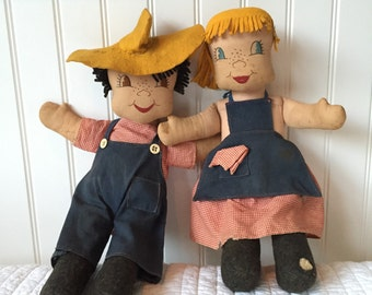 Adorable well-loved antique dolls